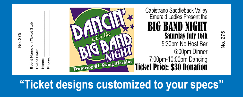 Tickets - Big Band
